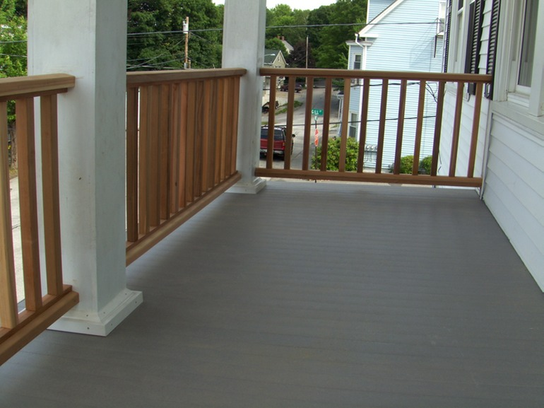 Custom Railings And Columns With Composite Decking
