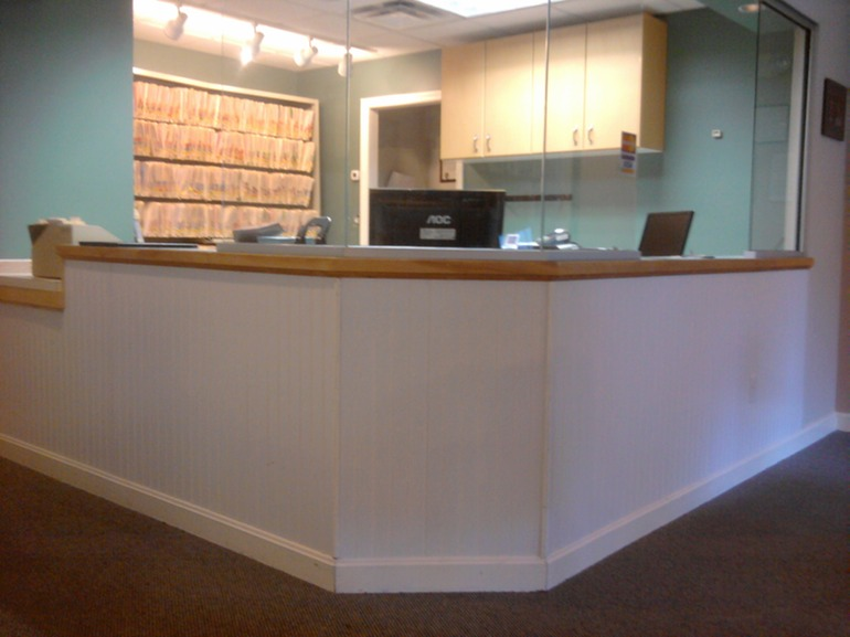 Reception Desk And Trim Greater Portland Homeworks Llc
